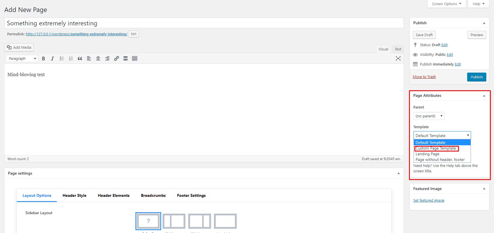 Tutorial: Cómo crear una plantilla de página personalizada en WordPress