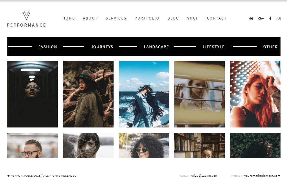 Performance Portraits Photography