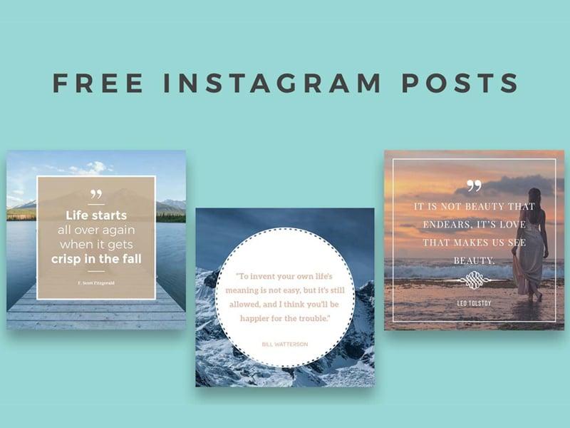 5 Free Instagram Posts Templates
