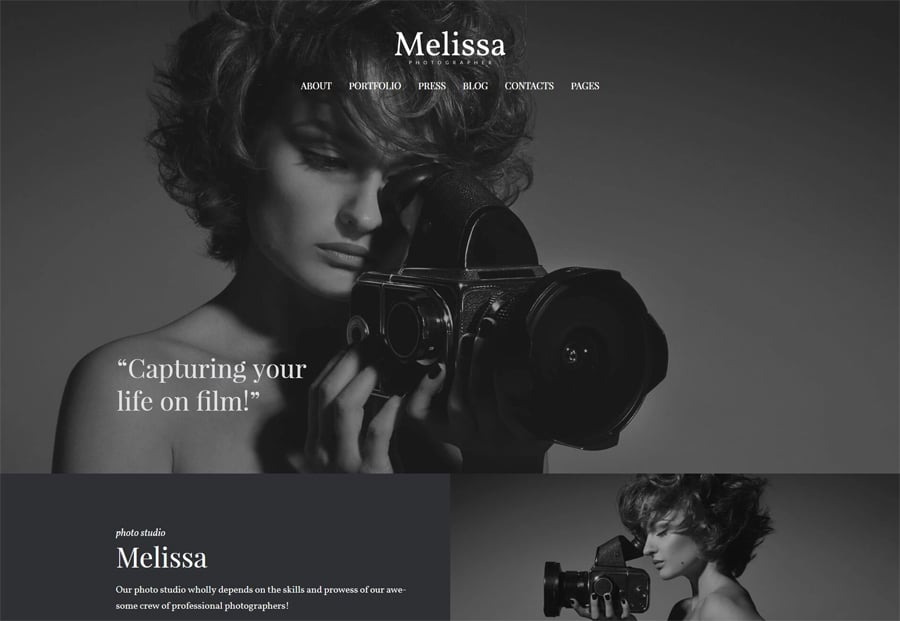 Free Photography Portfolio WordPress Theme