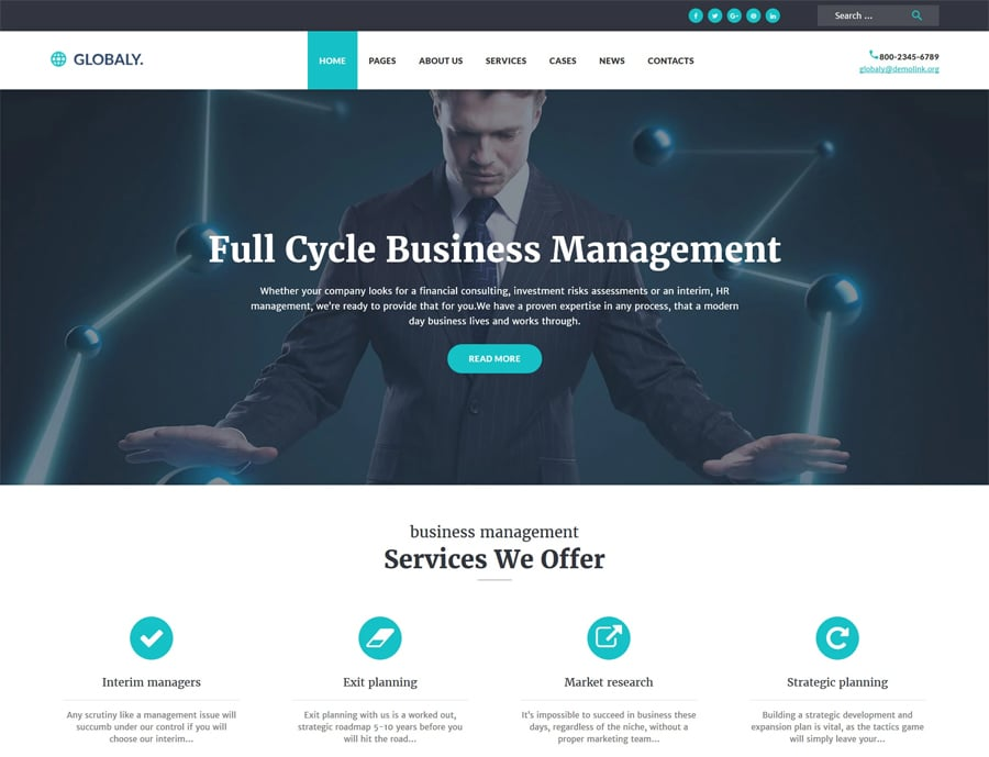 Free Business Responsive WP Theme