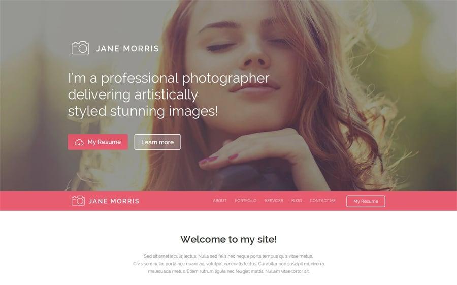 Photographer Portfolio Free WordPress Theme