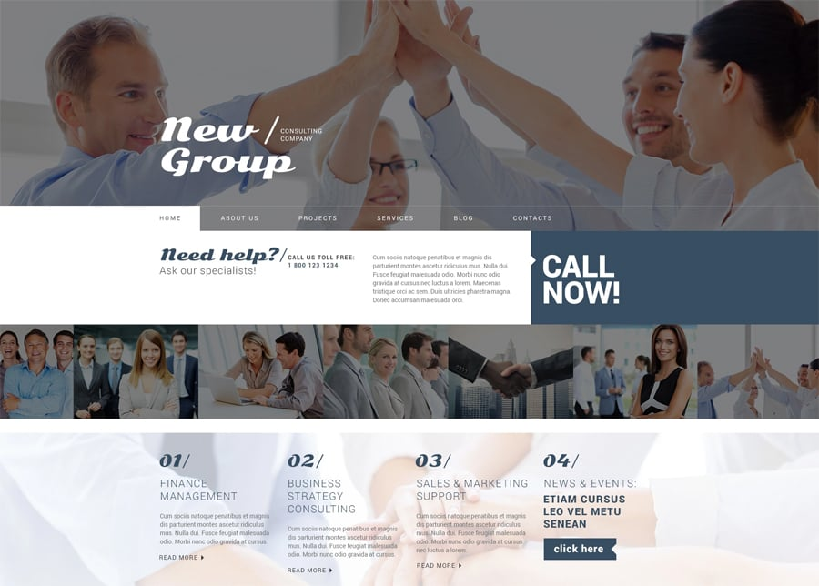 Free Consulting WordPress Theme