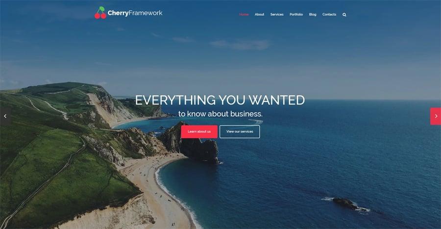 Cherry Framework Free WordPress Theme