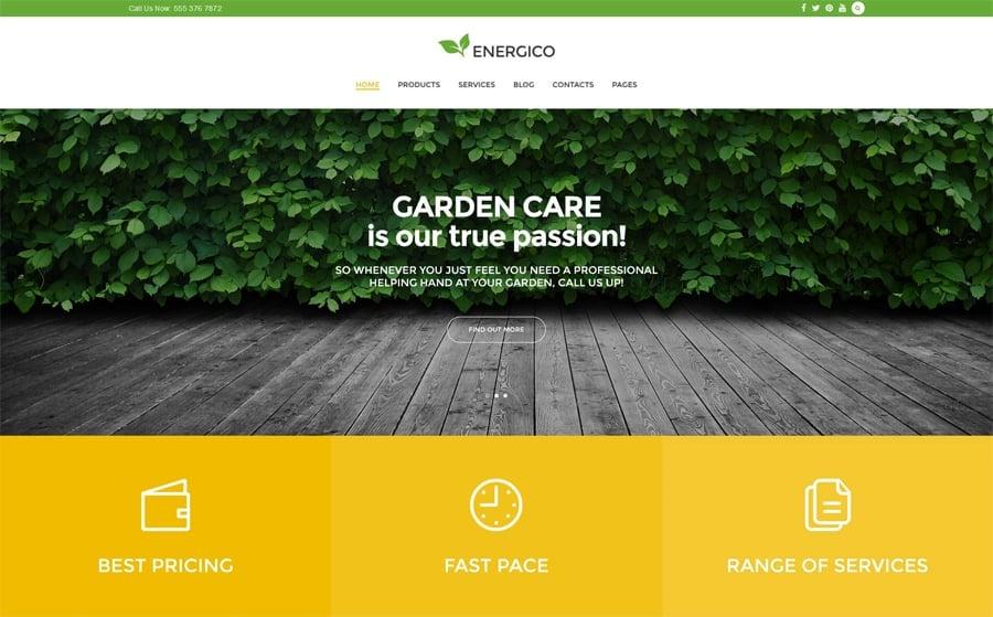 Agriculture Free Responsive WordPress Theme