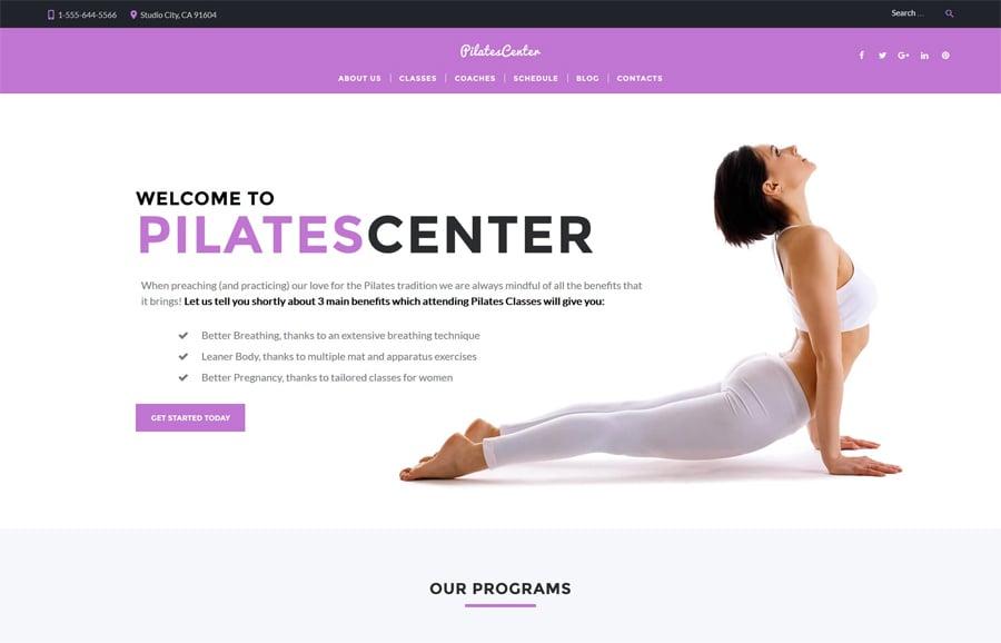 Fitness & Yoga Free WP Theme