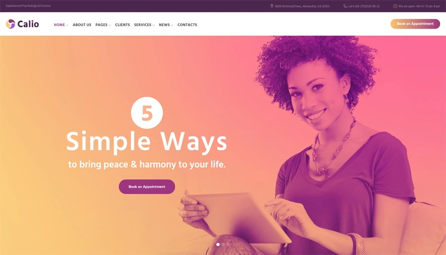 Counselling Free WordPress Theme
