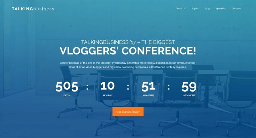 Conference Free WordPress Theme