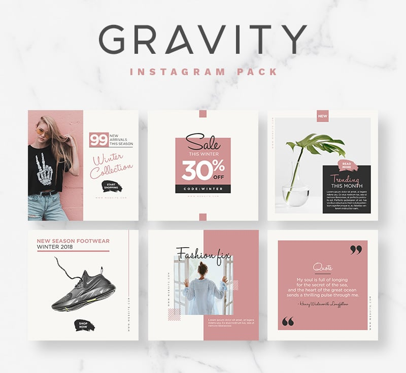 20+ Free Instagram Templates to Bring the Perfect ...
