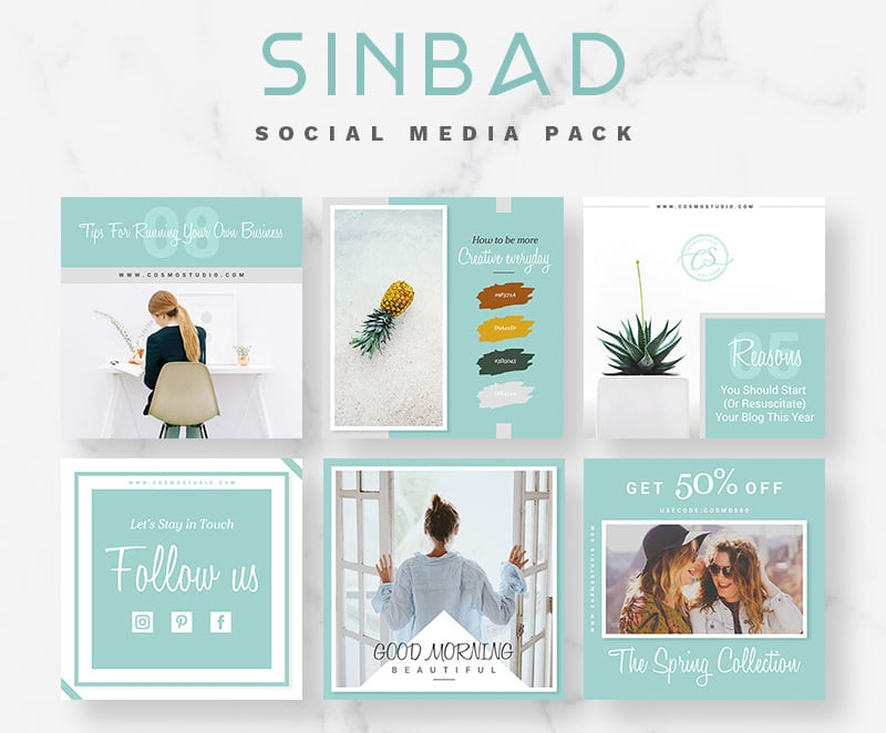 SINBAD - Social Media Pack Bundle