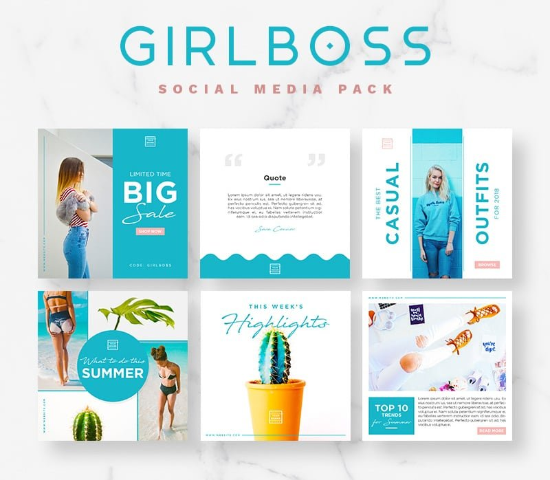 Girlboss Social Media Pack Bundle