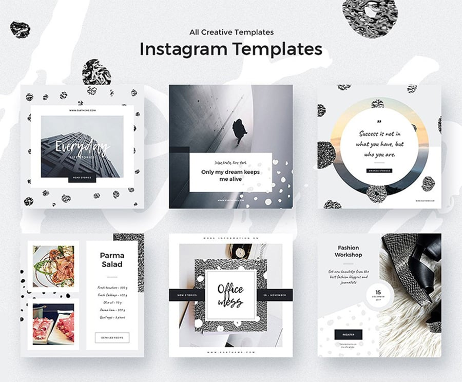 20 Free Instagram Templates To Bring The Perfect Instagram Visual Style