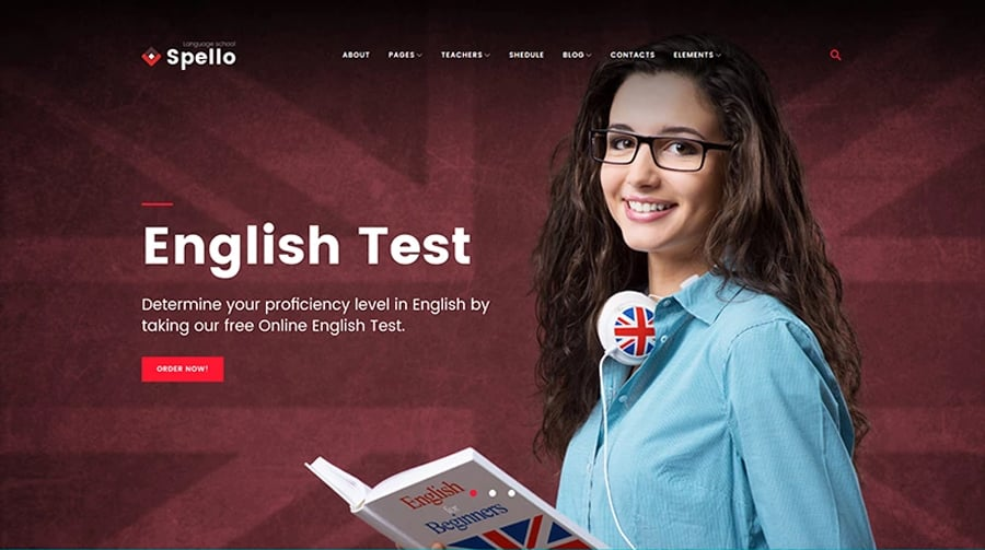 Language School Free Wp Theme