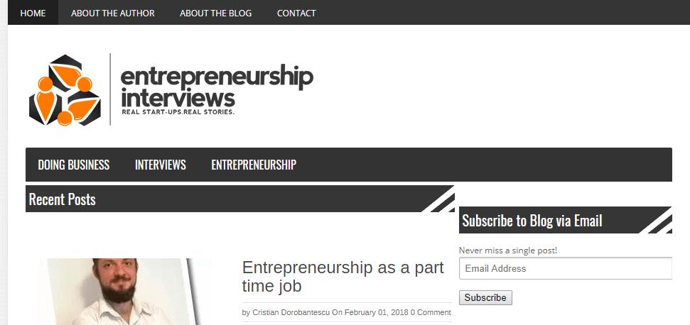 Entrepreneur interviews
