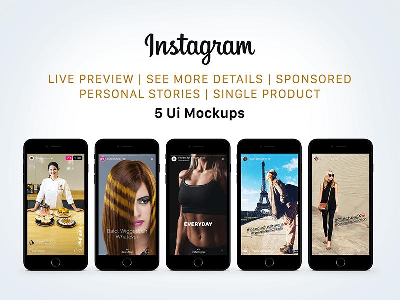 Free Instagram UI Mockup PSD