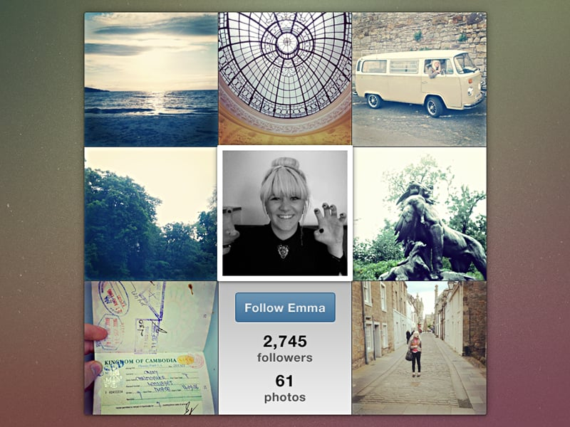 Instawidget free Instagram template