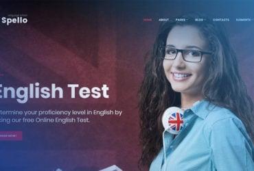 Seize Spellolite Language School FREE WordPress Template