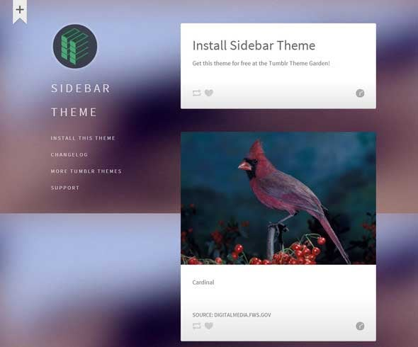101 free tumblr themes to jump on stylish blog appearance sidebar is a free customizable tumblr theme which is created for imagery and text blog posts feel free to use sidebar on any device maxwellsz