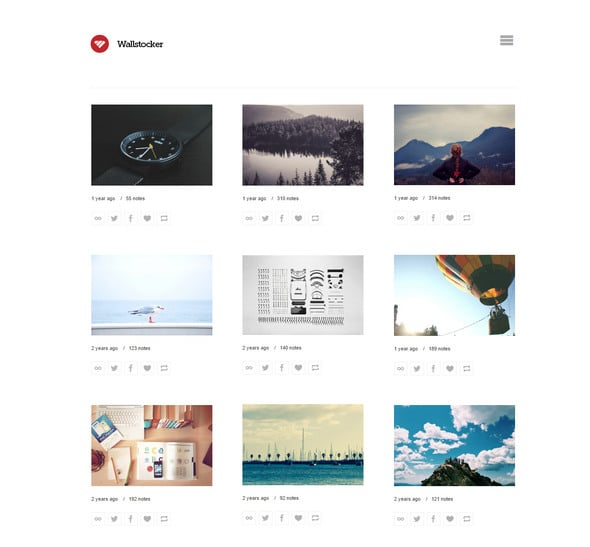 Wallstocker Is One Of The Most Popular Tumblr Themes This A Portfolio Styled Theme With Simple And Clean Design Great Option To