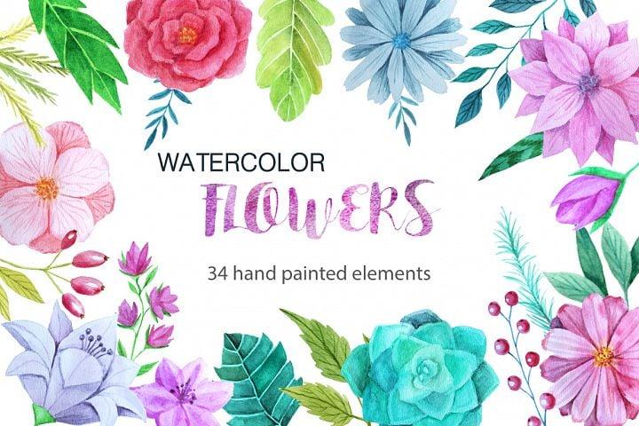 watercolor freebies