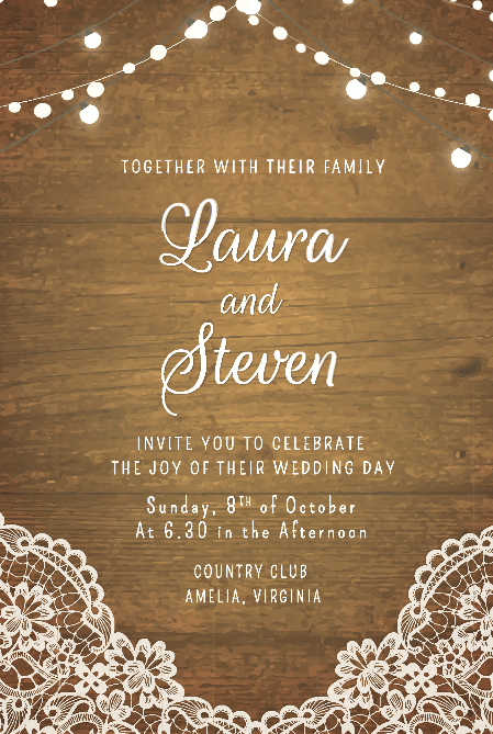 template of wedding invitation