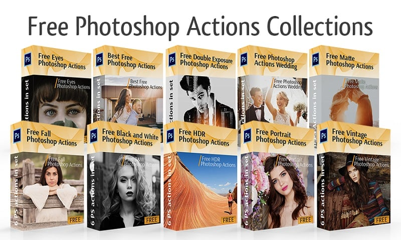 Free Photoshop Actions