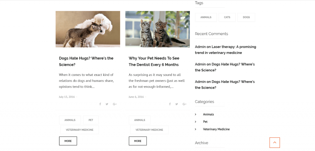 Blog functionality