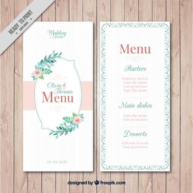 Watercolour wedding invitation freebie freepik stopboris Choice Image