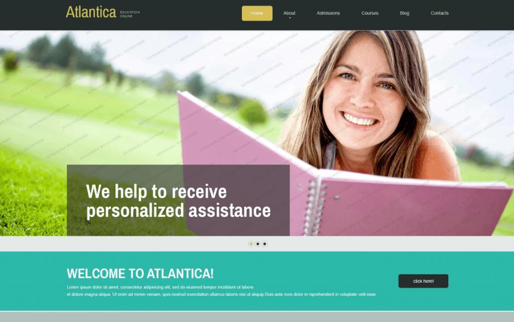 Free Education Joomla Template