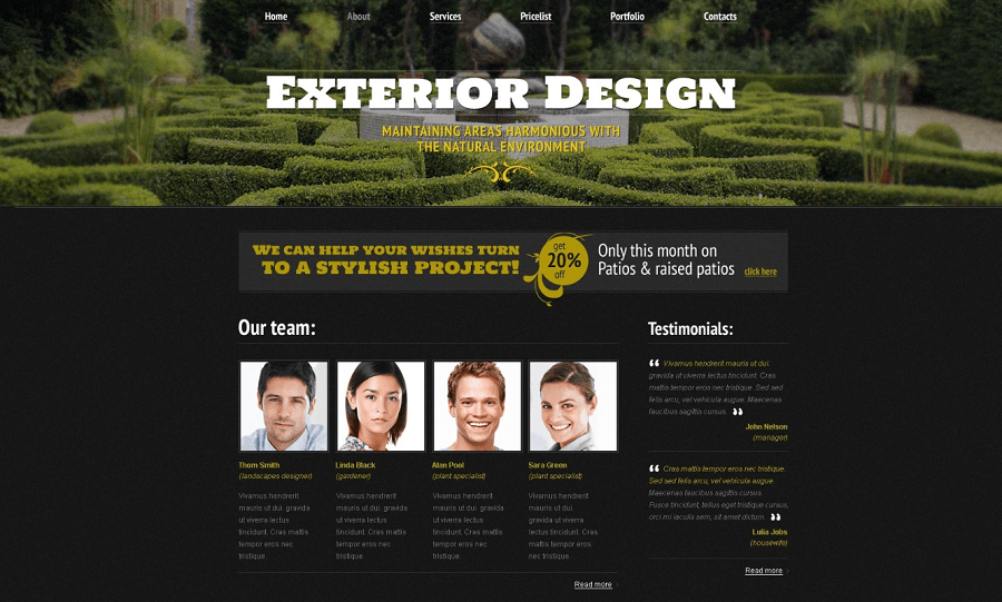 Exterior Design HTML5
