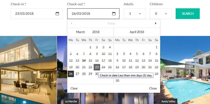 search availability calendar