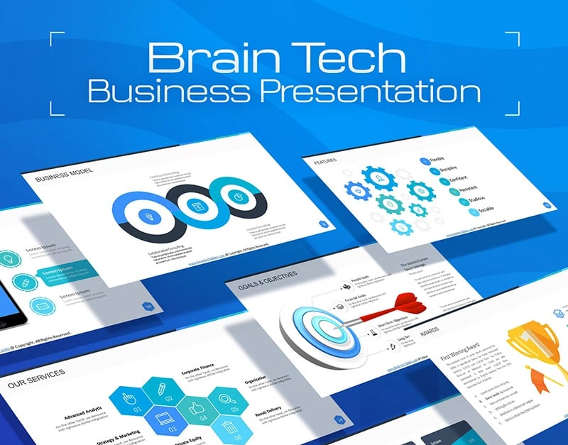 100 professional business presentation templates to use in 2018 the pro designed powerpoint business presentation template will help you to draw a stunning marketing presentation for any kind of business cheaphphosting Images