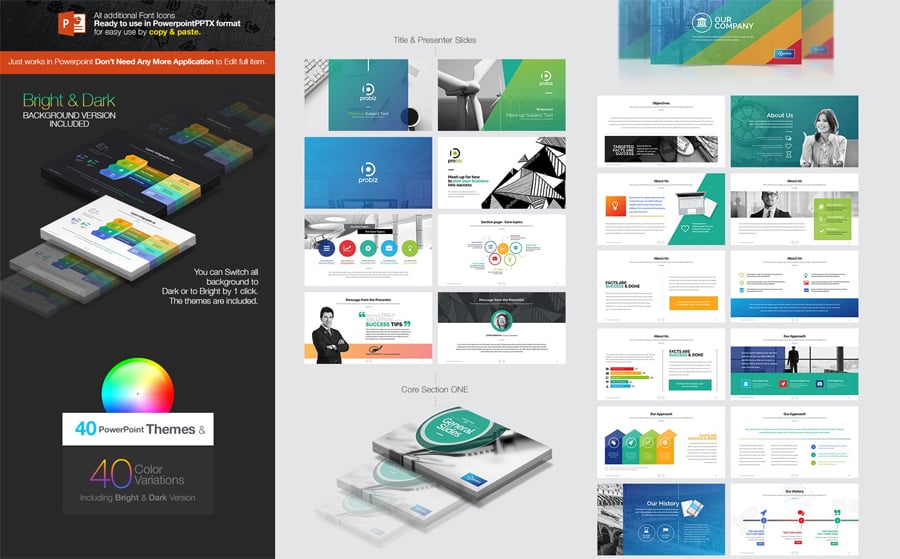 100 professional business presentation templates to use in 2018 this is one of the biggest business presentation templates from this showcase toneelgroepblik Gallery