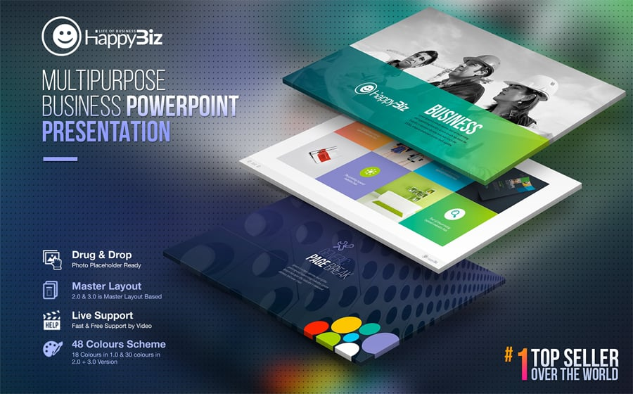 100 professional business presentation templates to use in 2018 happybiz powerpoint presentation template features a trendy and easy to follow layout this template contains super clean creative and professional flashek Gallery