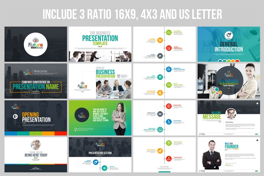 100 professional business presentation templates to use in 2018 this is one of the most popular business presentation templates in the marketplace its best suited to reveal the business plan marketing plan accmission Choice Image