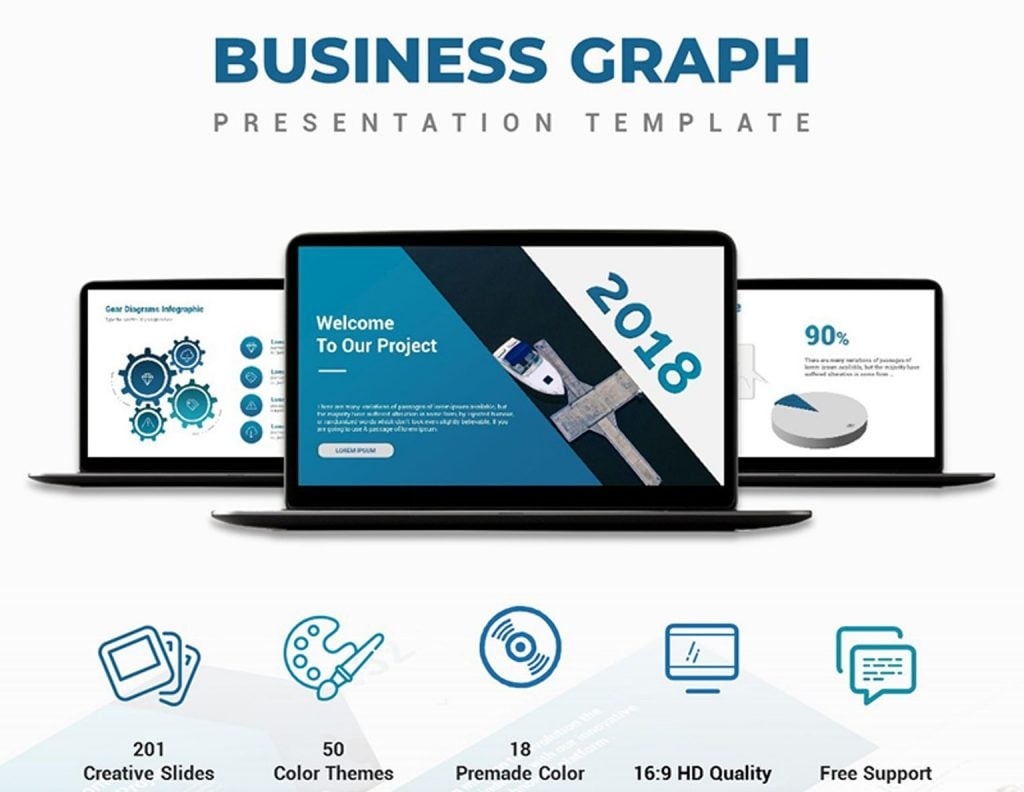100 professional business presentation templates to use in 2018 a clean and smart design of the template will be the ideal fit for the development of professional business presentations more than 200 multipurpose slides flashek Gallery