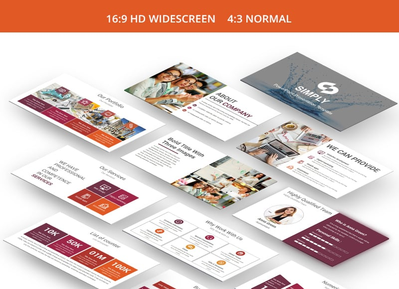 100 professional business presentation templates to use in 2018, Screen Printing Company Presentation Portfolio Template, Presentation templates