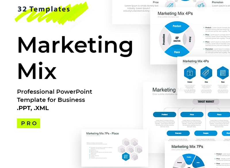 1d887c0a9e Marketing and advertising agencies can make use of this ready-made business  presentation template to introduce partners and clients to their offers.