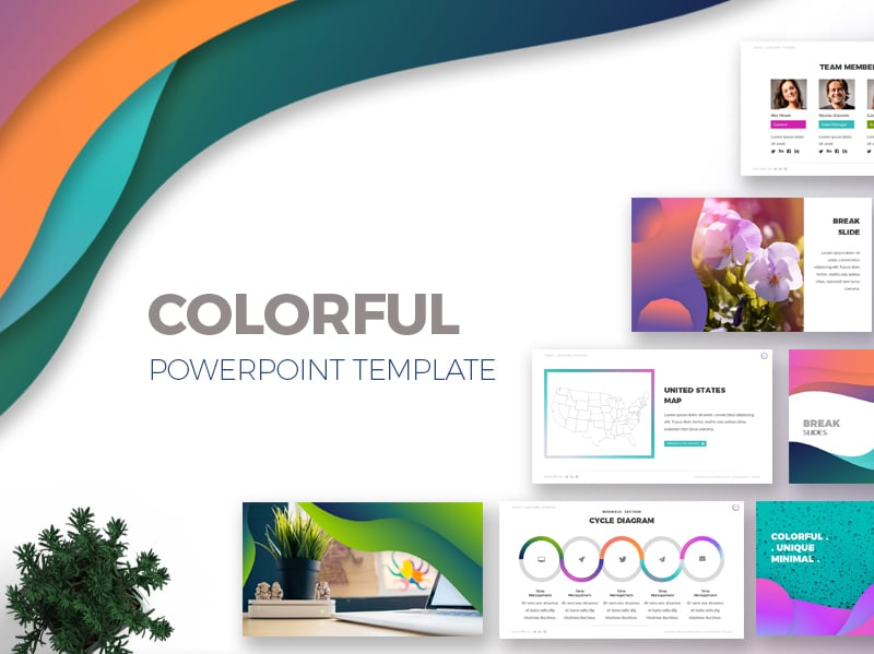 100 professional business presentation templates to use in 2018 the template was born with the idea of mixing different colors and maintaining elegance uniqueness and freshness in each slide toneelgroepblik Image collections