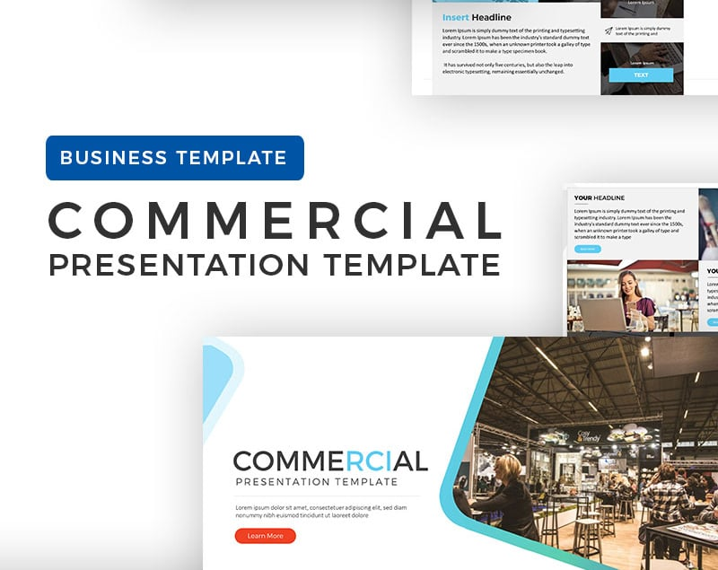 100 professional business presentation templates to use in 2018 commercial presentation powerpoint template is easy to use and can save you time in completing your business presentation needs flashek Images