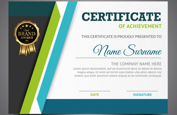 Certificate Of Achievement | 50 Multipurpose Certificate Templates And Award Designs For Business