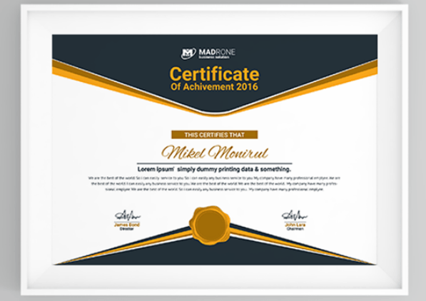50 multipurpose certificate templates and award designs for business computer training certificate template yelopaper Images