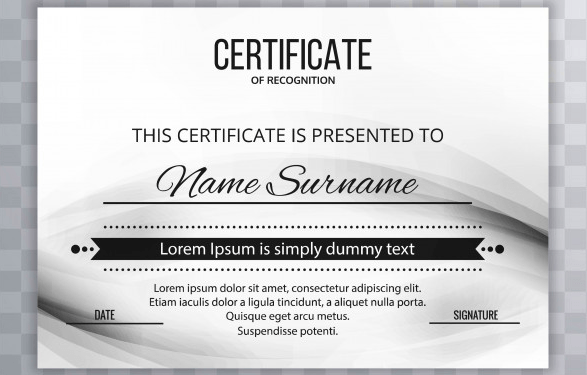 50 multipurpose certificate templates and award designs for business modern certificate template design yelopaper Choice Image