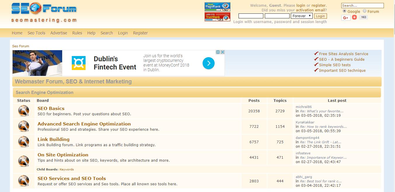 Top SEO Internet Marketing Forums