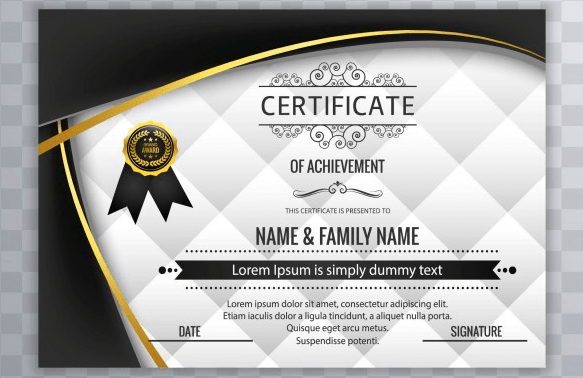 50 multipurpose certificate templates and award designs for business with black wavy forms modern certificate design altavistaventures Image collections