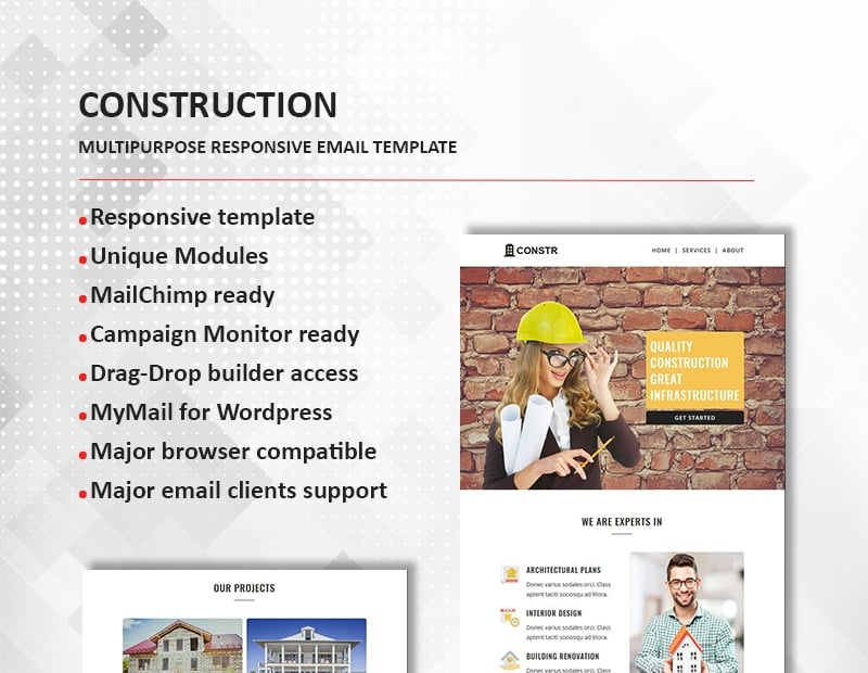 Construction - Multipurpose Responsive Newsletter Template
