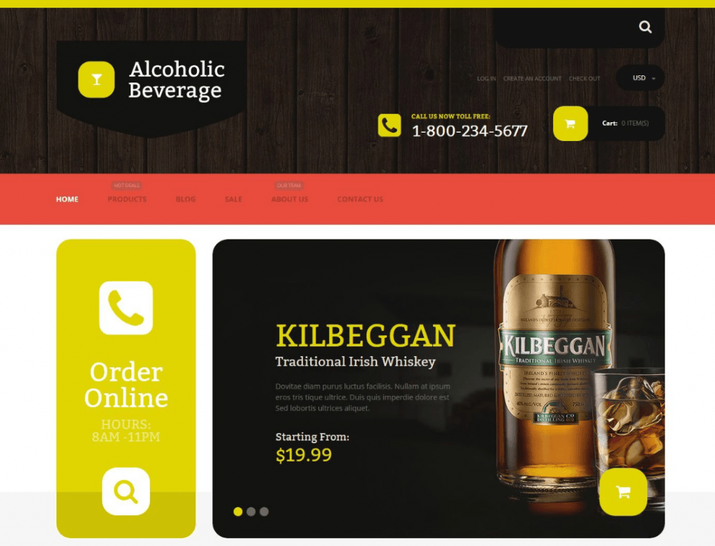 Alcoholic Beverage Store Shopify Theme