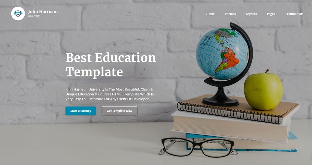 John Harrison - Elegant Education Multipage HTML Website Template