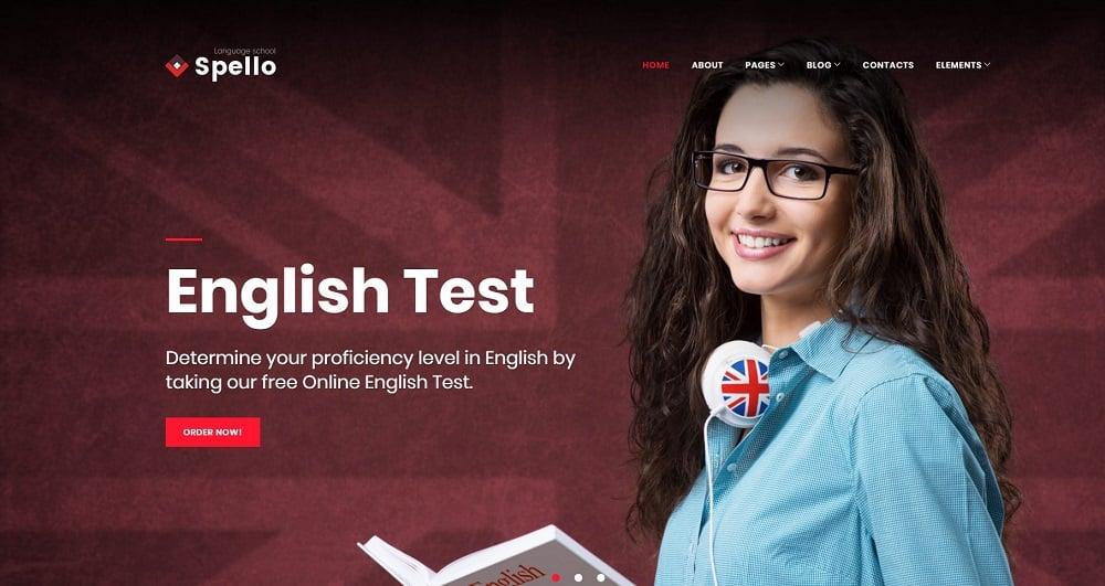 Spellolite - Language School WordPress Theme