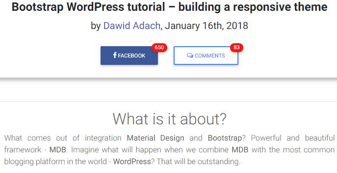 Bootstrap WordPress tutorial